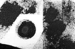 Zwarte gestreepte waterverf Royalty-vrije Stock Foto's