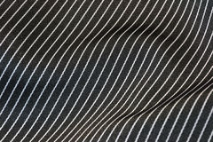 Zwarte gestreepte zijde Royalty-vrije Stock Afbeeldingen