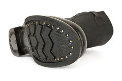 Zwarte gevechtslaarzen Royalty-vrije Stock Foto's
