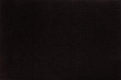 Zwarte gevoelde weefseldoek, de achtergrond van de close-uptextuur Stock Fotografie