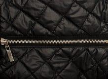 Zwarte gewatteerde textuur Stock Foto