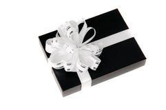 Zwarte giftbox Royalty-vrije Stock Foto's