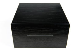 Zwarte giftdoos Stock Afbeelding