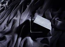 Zwarte giftdoos Royalty-vrije Stock Foto's
