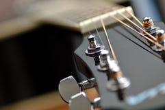 Zwarte gitaar Stock Afbeelding
