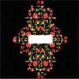 Zwarte glanzende papaverachtergrond Stock Foto