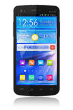 Zwarte glanzende touchscreen smartphone royalty-vrije illustratie