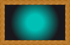 Zwarte gloed als achtergrond met een overzicht van hout Royalty-vrije Stock Afbeelding