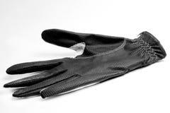 Zwarte golfhandschoen Stock Fotografie