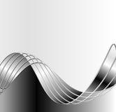 Zwarte golven Stock Afbeelding
