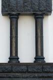 Zwarte gotische kolommen Stock Foto's