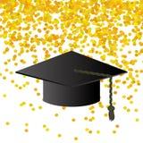 Zwarte Graduatie GLB op Confettienachtergrond vector illustratie