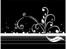 Zwarte grunge stock illustratie