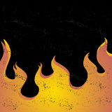 Zwarte grungeachtergrond met een gradiënt van brand Stock Foto's
