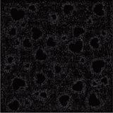 Zwarte grungeachtergrond met harten vector illustratie