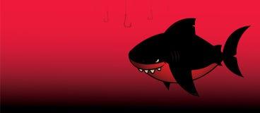 Zwarte haai vector illustratie