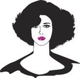Zwarte haarvrouw Royalty-vrije Stock Foto