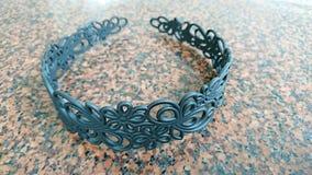 Zwarte hairband Royalty-vrije Stock Foto's