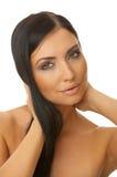 Zwarte haired Schoonheid Stock Foto