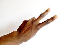 Zwarte hand twee Stock Afbeelding