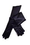 Zwarte handschoenen Royalty-vrije Stock Afbeelding