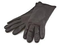 Zwarte handschoenen Stock Afbeelding