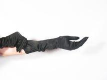 Zwarte handschoenen Stock Foto's