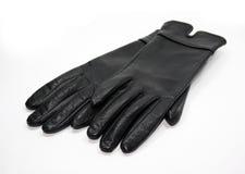 Zwarte handschoenen Royalty-vrije Stock Afbeeldingen