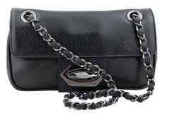 Zwarte Handtas Stock Foto