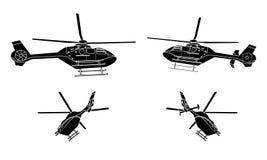 Zwarte Helikopter Royalty-vrije Stock Afbeeldingen