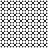Zwarte het patroonachtergrond van de achthoekvorm Royalty-vrije Stock Fotografie