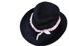 Zwarte hoed Stock Fotografie
