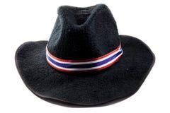 Zwarte hoed Stock Foto's