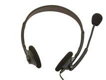 Zwarte hoofdtelefoon. Royalty-vrije Stock Afbeelding