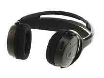 Zwarte hoofdtelefoons Stock Afbeelding