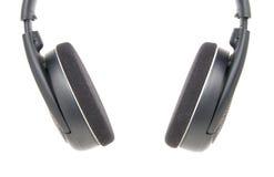 Zwarte hoofdtelefoons Royalty-vrije Stock Foto