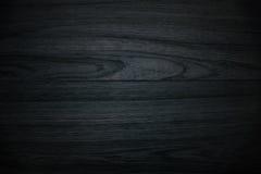 Zwarte houten achtergrond Royalty-vrije Stock Fotografie