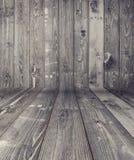 Zwarte houten planktextuur Stock Afbeelding