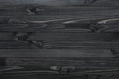 Zwarte houten textuur Stock Foto's