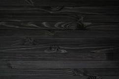 Zwarte houten textuur Stock Foto