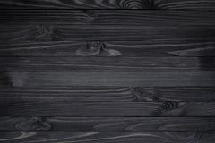 Zwarte houten textuur Royalty-vrije Stock Foto's