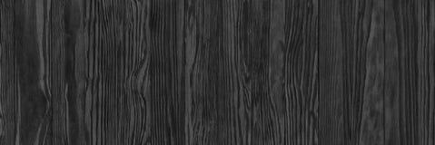 Zwarte houten textuur, lege houten lijstoppervlakte of muur als backgr Royalty-vrije Stock Fotografie