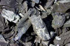 Zwarte houtskool royalty-vrije stock afbeelding