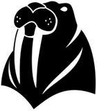 Zwarte illustratie van het walrus de eenvoudige cijfer Royalty-vrije Stock Foto