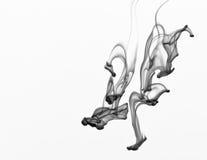 Zwarte Inkt in water, abstracte achtergrond Royalty-vrije Stock Afbeeldingen