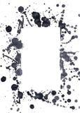 Zwarte inktvlekken Stock Foto's