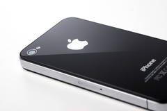 Zwarte iPhone 4s op witte achtergrond Stock Foto's