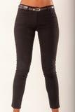 Zwarte jeans Stock Foto's