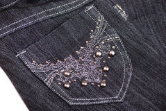 Zwarte jeans Royalty-vrije Stock Afbeelding