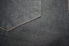 Zwarte jeanstextuur royalty-vrije stock afbeelding